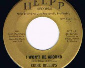 I Won't Be Around / Hard Headed Woman, HELPP 002, 60′s Record: M €25,-
