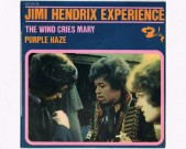 The Wind Cries Mary / Fire/ Purple Haze / Highway Child, Barclay No 071157 1967 – French only – four track extended play (EP) with a unique old style laminated picture sleeve. Condition labels: see scans Condition vinyl: EX €40,-