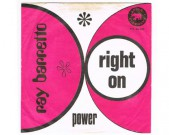 Right On / Power, Pink Elephant, PE 22.533H Great and scarce Dutch pressing from 1970 and another hard hittin' latin soul monster. Condition cover: VG+ Condition labels: clean, see scan Condition vinyl: EX €50,-