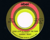 Your Love Is worth the Pain / Just The Other Day, Abet 9433 Condition labels: see scans Condition vinyl: NM €120,-