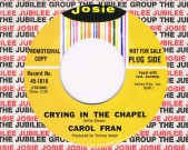 Crying In The Chapel / I'm Gonna Try, Josie 1016 Promotional Copy Condition vinyl:  Mint Condition labels: clean comes in a Josie factory sleeve € 50
